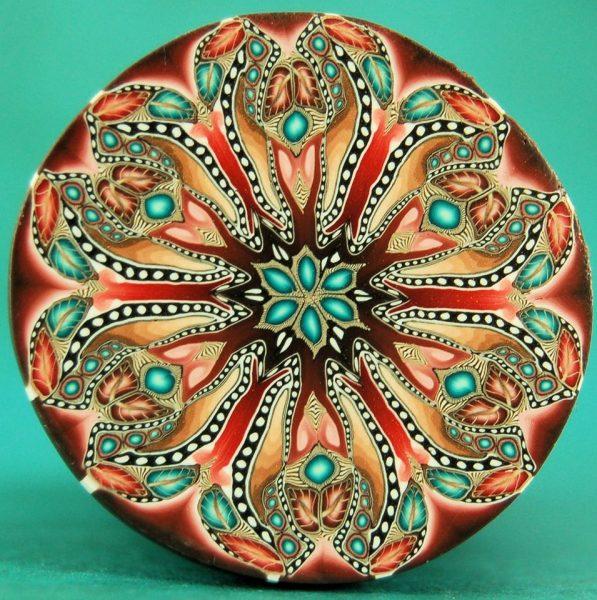 Kaleidoscope cane by Ivy Niles of iKandiClay
