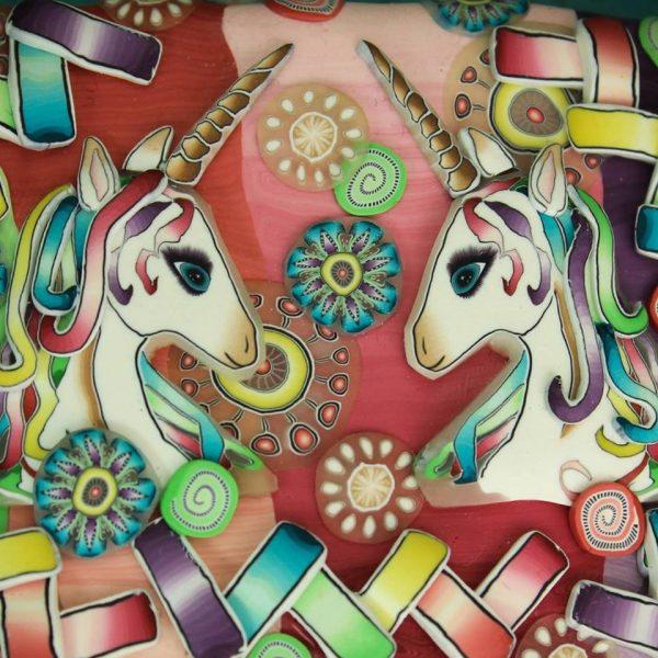 Unicorn canes by Ivy Niles of iKandiClay