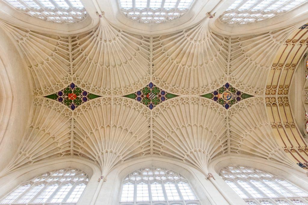 The ceiling at Bath Abbey.