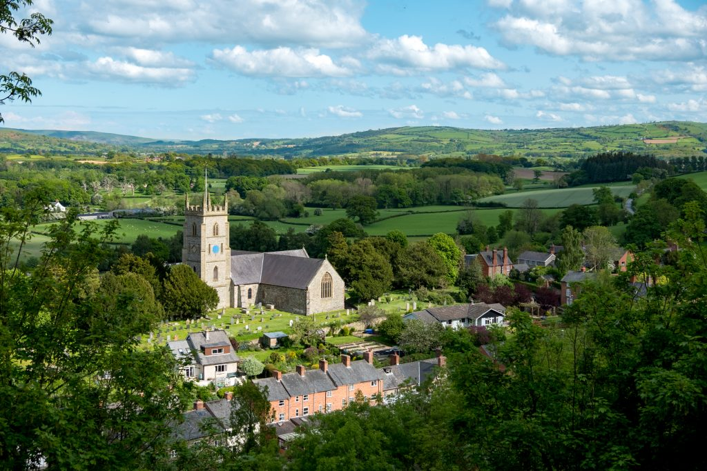 Montgomery, a town in Powys, Wales.