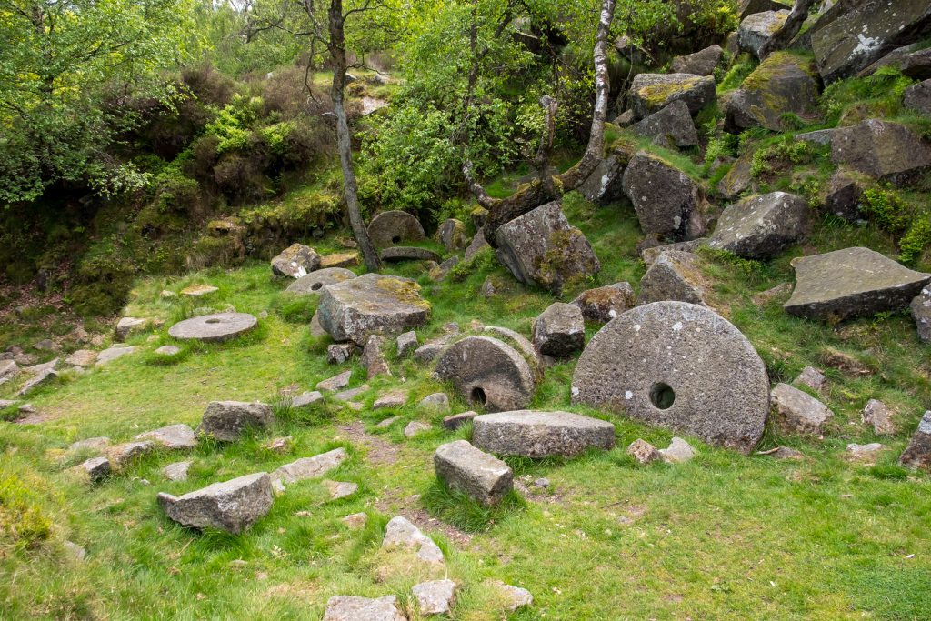 Mill Stone Quarry in the Peak District.