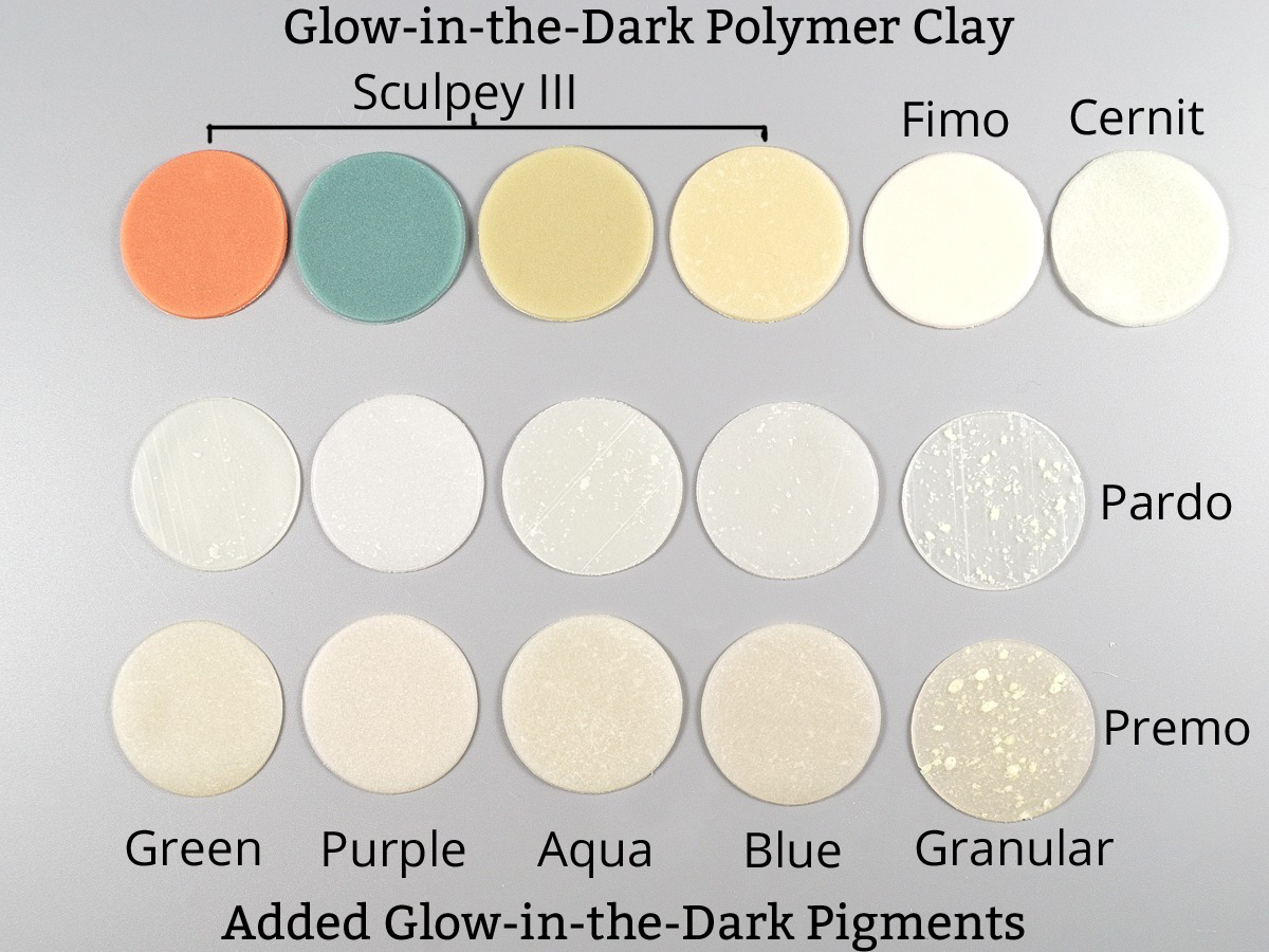 Diy Glow In The Dark Polymer Clay The Blue Bottle Tree