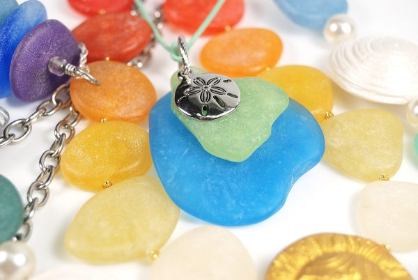 You can make polymer clay faux sea glass jewelry in any color, size, and shape with the Faux Glass Effects Tutorial.