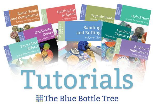 Learn more about polymer clay with the tutorials available from The Blue Bottle Tree.
