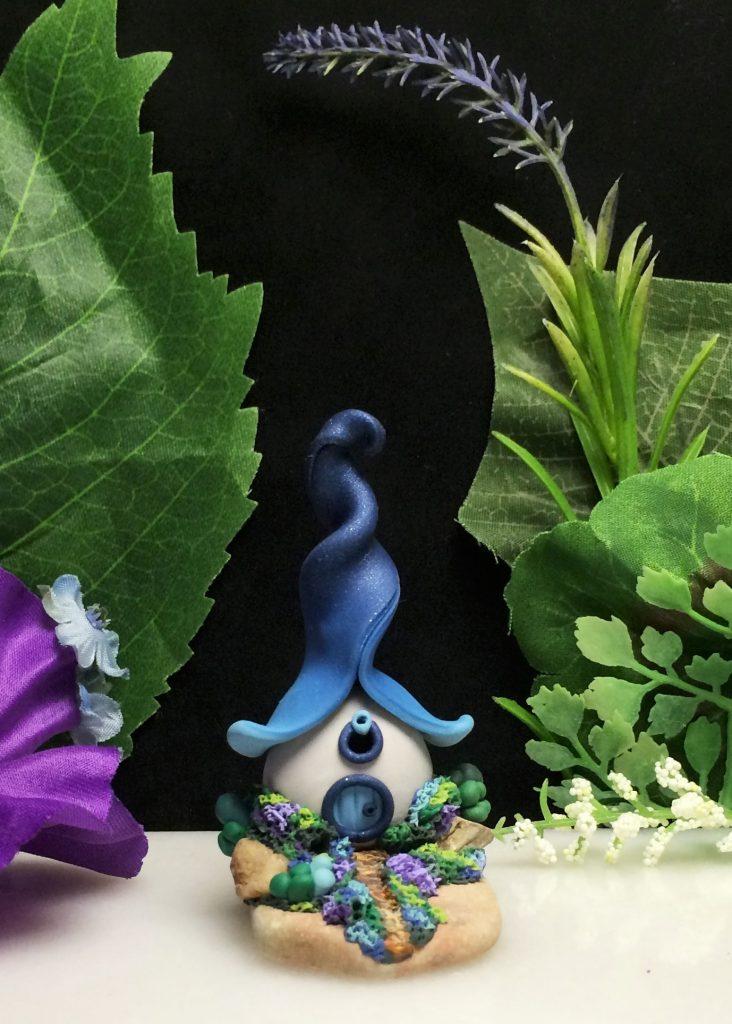 Blue Fairy House by Jennifer Sorensen of Wishing Well Workshop