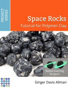 Use polymer clay to make rocks for your space scenes, dioramas, fairy houses and garden art. Includes free glow-in-the dark planetary earrings project.