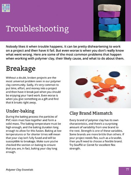 Here's a heading page in the Polymer Clay Essentials eBook, a veritable textbook for polymer clay enthusiasts of all levels.