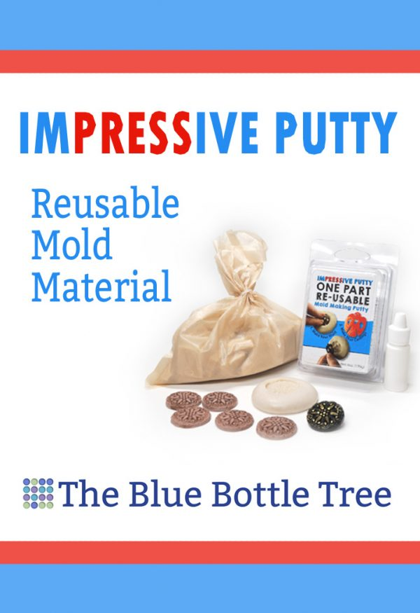 ImPRESSive Putty is a reusable molding material that's perfect for making push molds and texture sheets with polymer clay.