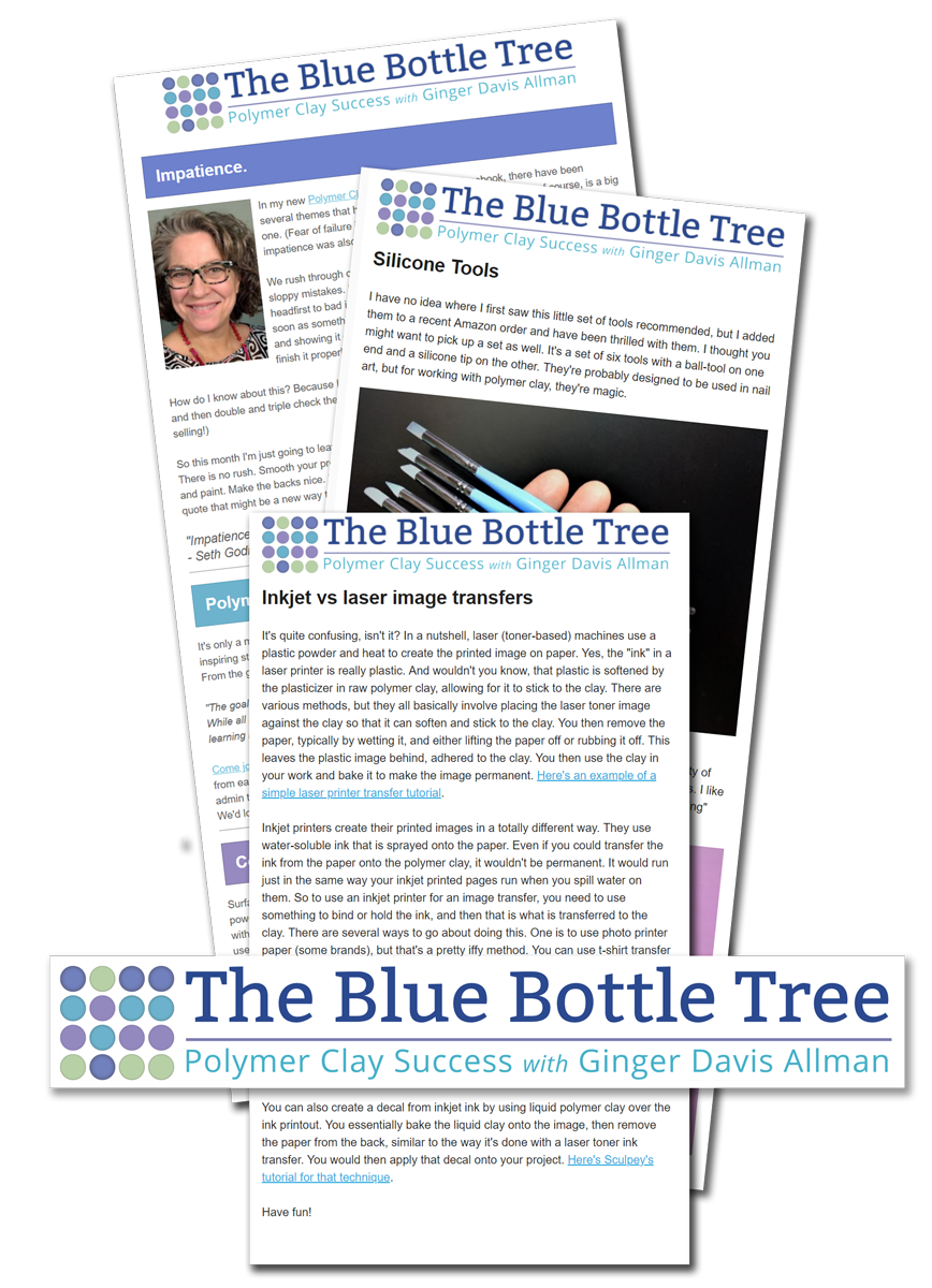 emails and newsletters from The Blue Bottle Tree