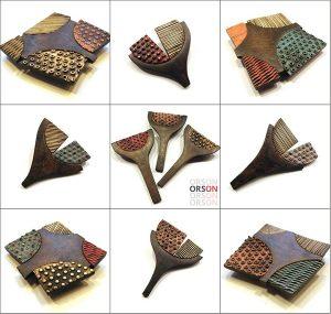 Brooches by Nikolina Otržan of Orson