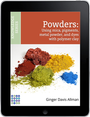 Learn to use powdered colorants on polymer clay with the Guide to Powders eBook.