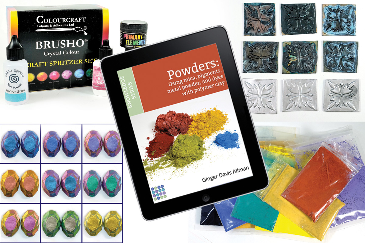 Learn to use mica, pigment, metal, and dye powders with polymer clay in this comprehensive Guide to Powders. Understand how these materials work so you can grow your art and create with confidence!