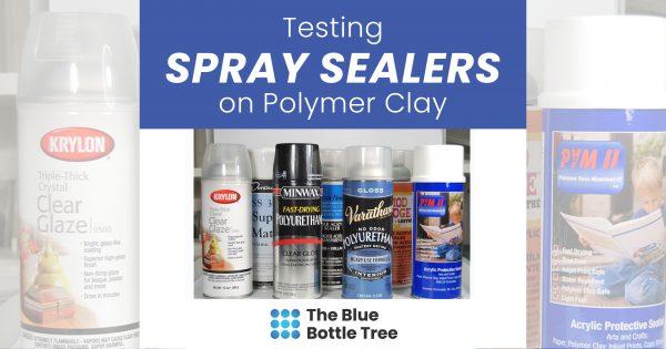 spray sealers often remain sticky on polymer clay