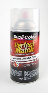 Dupli-Color Perfect Match clear coat finish spray