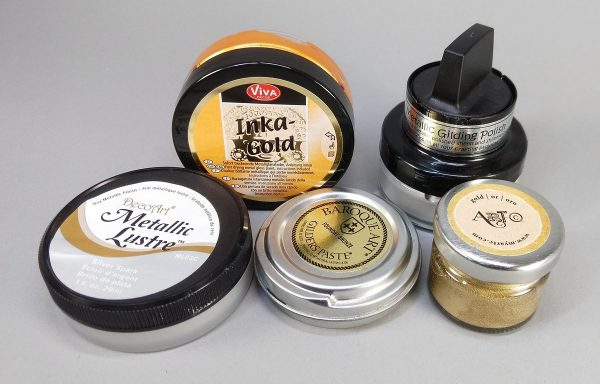 gilding pastes are used to give highlights to texture
