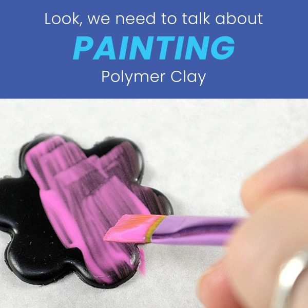 Painting polymer clay
