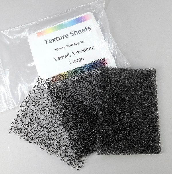 pieces of texture sponge from Clayaround