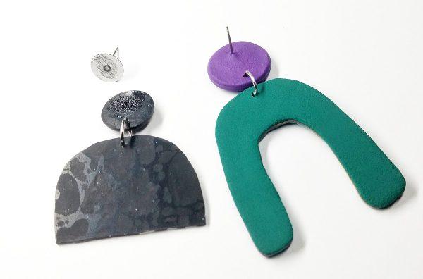 post earring backs often fall off polymer clay earrings.