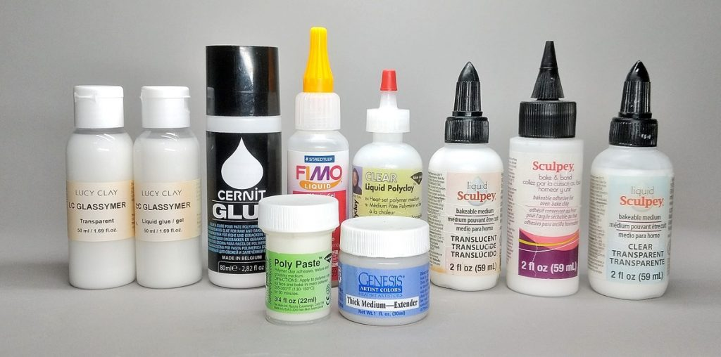 bakeable glues or bonding agents for polymer clay