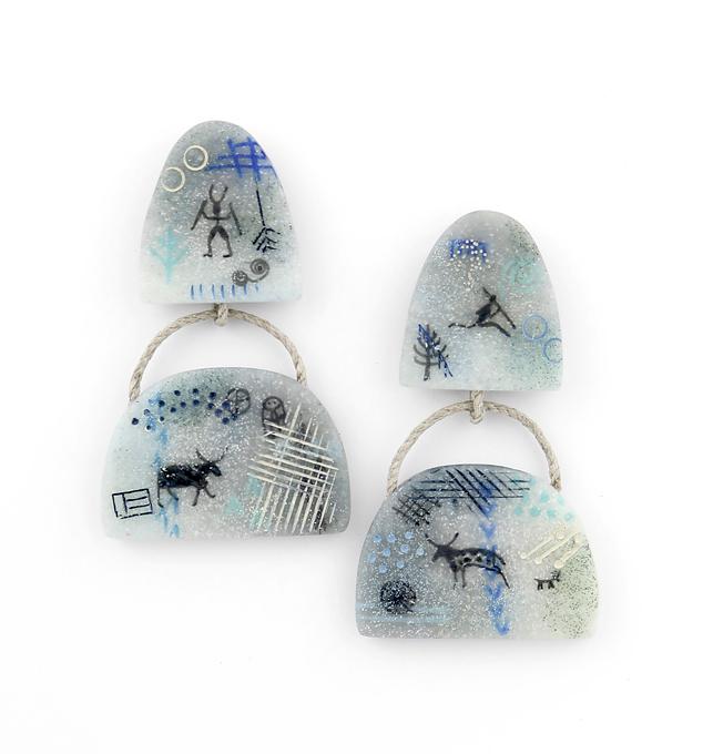 polymer clay earrings by Valerie Ronvel-Blaya