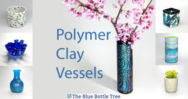 polymer clay vessels in the 100 day project