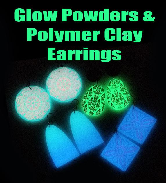 Make Glow in the dark polymer clay earrings.
