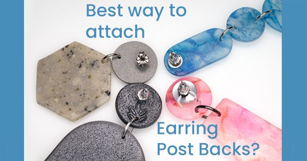polymer clay earring post backs