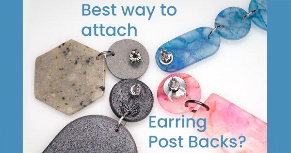 polymer clay earring post backs