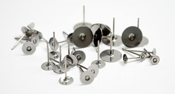 titanium posts metal for polymer clay earrings