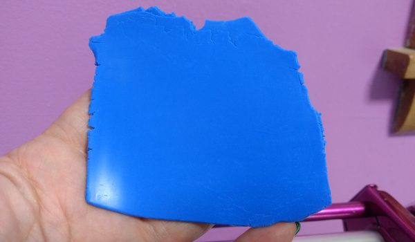 conditioned sheet of polymer clay