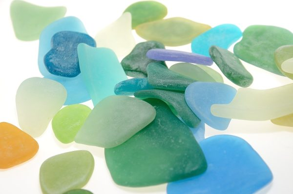 faux sea glass made with polymer clay