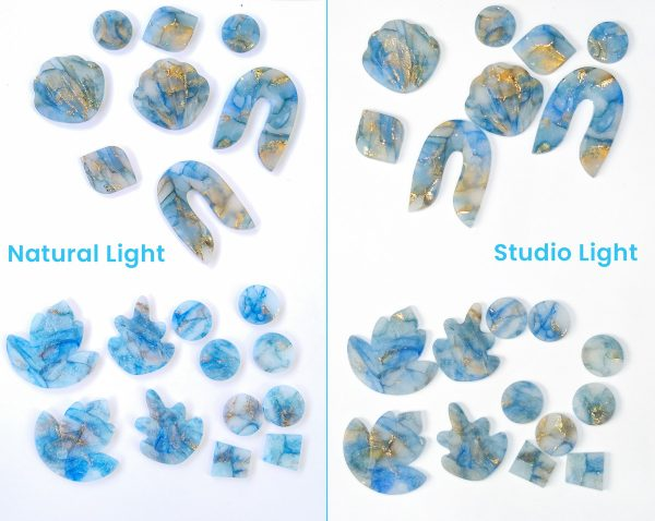comparison of optical brighteners in baked polymer clay