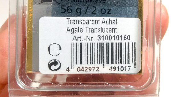 Pardo Agate label with stock number