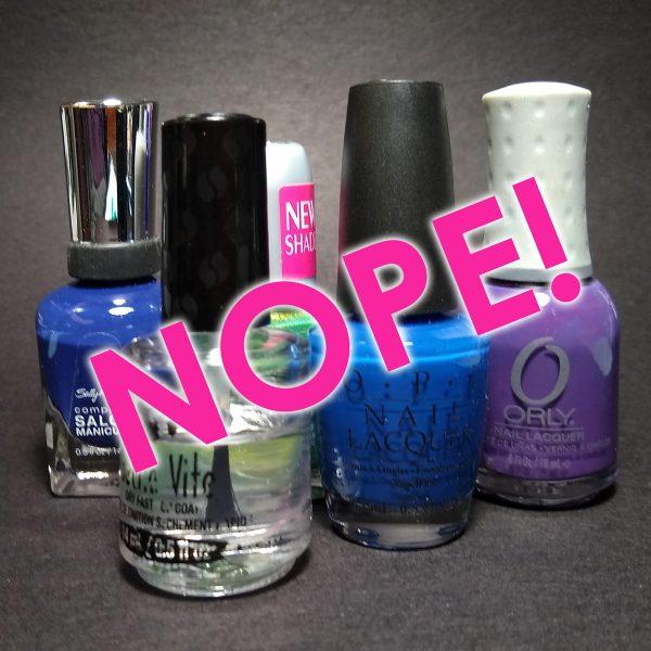 don't use nail polish on polymer clay